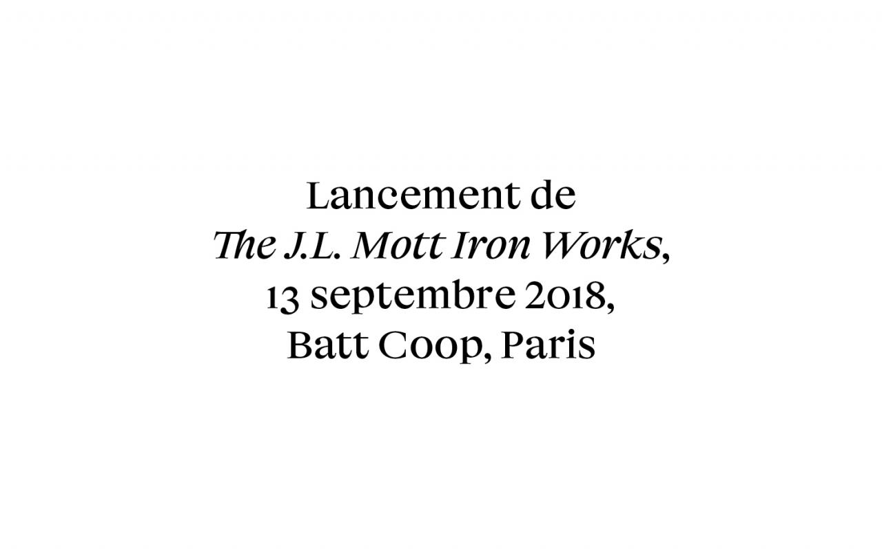 Actualité - Lancement - The J.L. Mott Iron Works