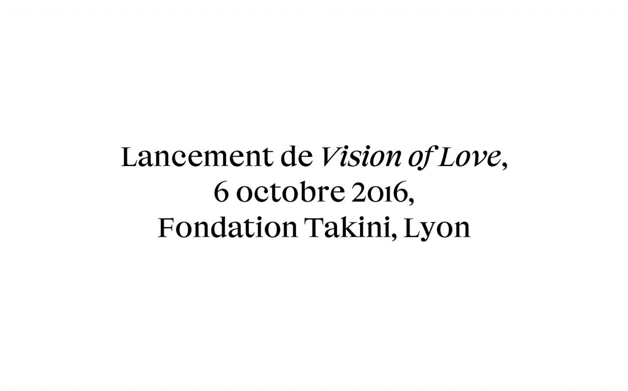 Actualité - Lancement - Vison of Love