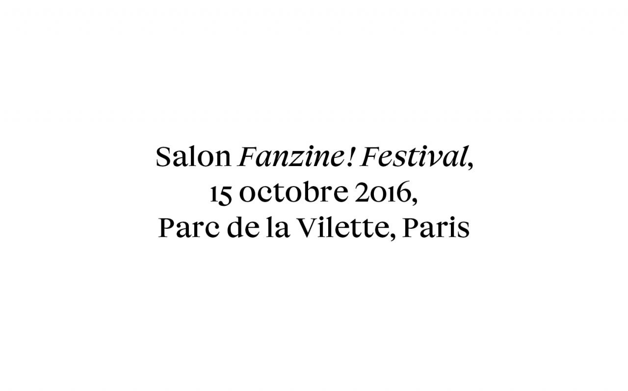 Actualité - Salon - FANZINES! festival