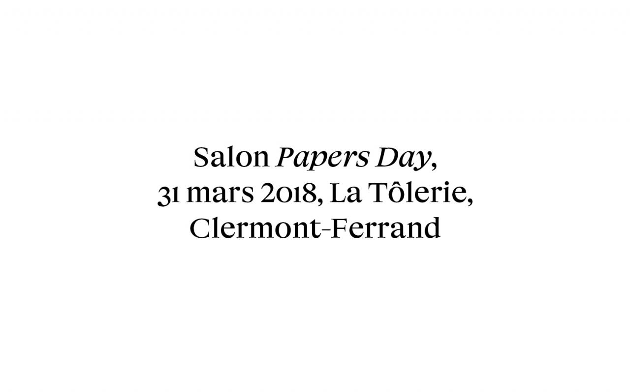 Actualité - Salon - Papers Day